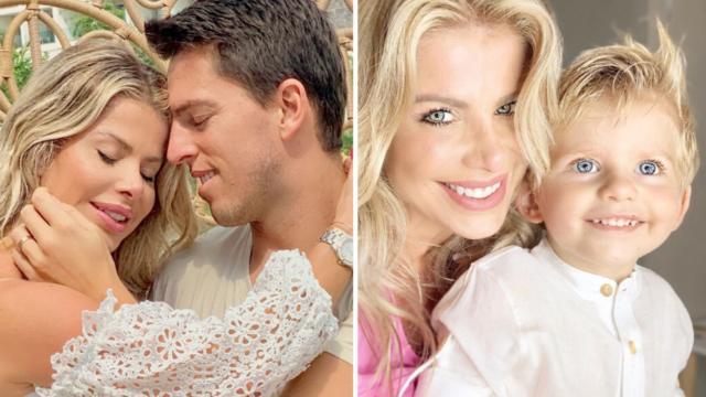 Karina Bacchi anuncia Amaury como pai de Enrico: 'está preparado?'