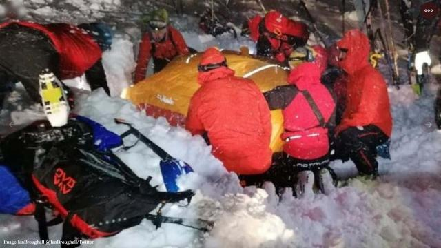 Skier survives being buried under an avalanche for five hours