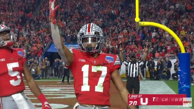 The Ohio State Buckeyes players react on terrible refereeing