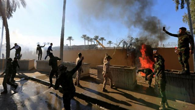 Iran-backed militia withdraws after the American embassy attack in Baghdad
