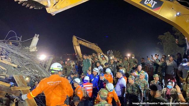 Seven-story hotel collapse in seaside town of Kep, Cambodia rises to 36