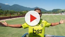 O atacante Pedro Rocha se apresenta no Flamengo