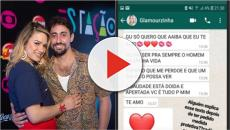 Ex de Glamour Garcia nega agressão à atriz e divulga prints: 'não encostei nela'