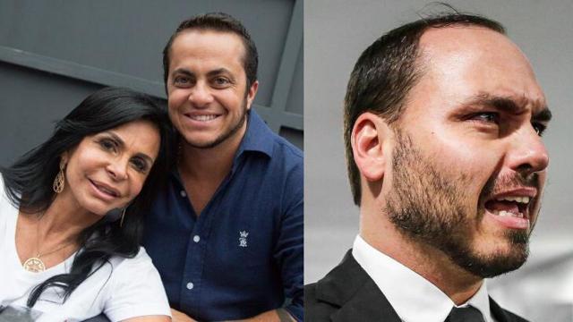 Gretchen diz que vai processar Carlos Bolsonaro por uso da imagem de Thammy