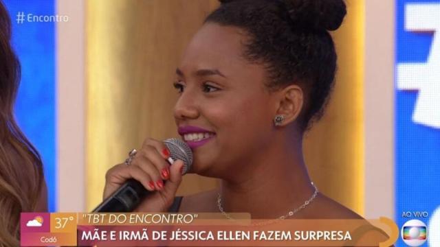 Jéssica Ellen comenta sobre a mãe no 'Encontro': 'dona Lurdes da vida real'