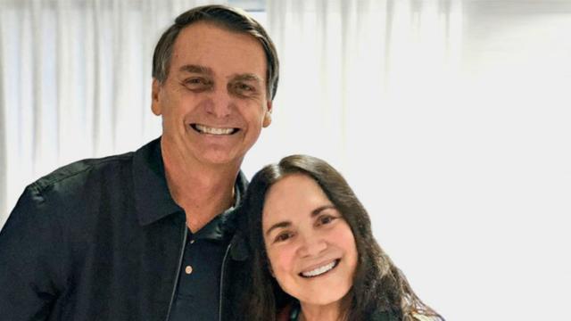 Bolsonaro convida atriz Regina Duarte para ser secretária da Cultura