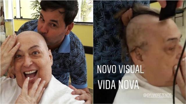 Na luta contra o câncer, Mamma Bruschetta raspa cabelo e aparece careca