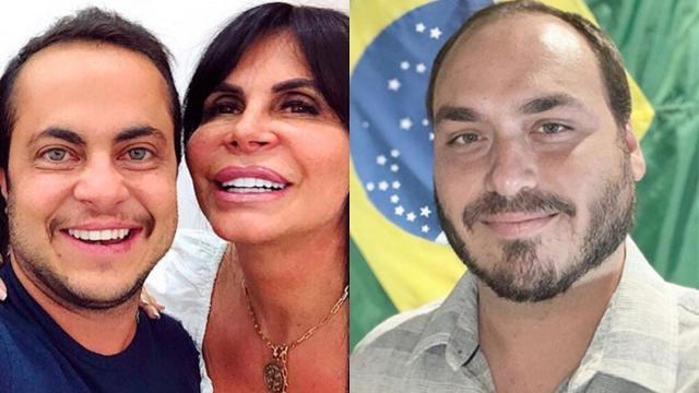 Carlos Bolsonaro faz montagem com foto de Tammy e Gretchen rebate