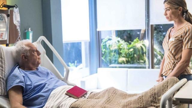 'Bom Sucesso': Mesmo muito doente, Alberto usa últimas forças e completa sonho com Paloma