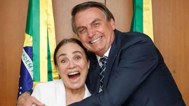Regina Duarte almoço com Bolsonaro no Palácio do Planalto
