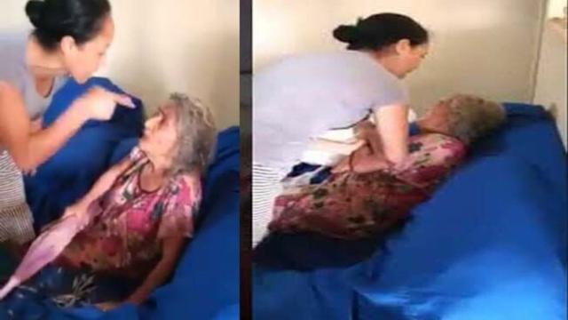 Pastora evangélica é vista em vídeo agredindo sogra de 73 anos