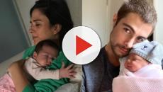 Rafael Vitti e Tatá Werneck publicam lindas fotos da filha Clara em seus 3 meses de vida
