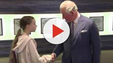 Greta Thunberg meets Prince Charles in Davos