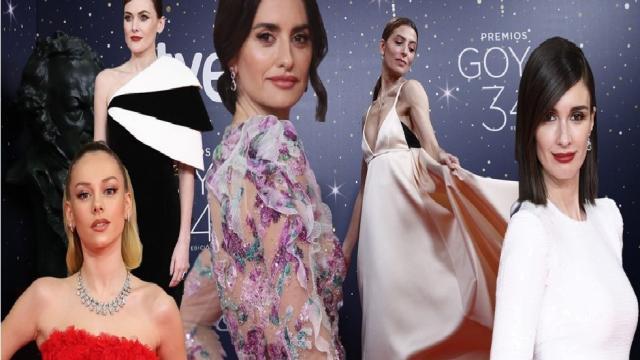 Los vestidos de la alfombra roja de los Premios Goya 2020, rendidos al blanco y negro