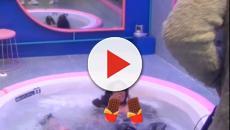 'El tiempo del descuento' Anabel Pantoja hace un topless por accidente en el jacuzzi