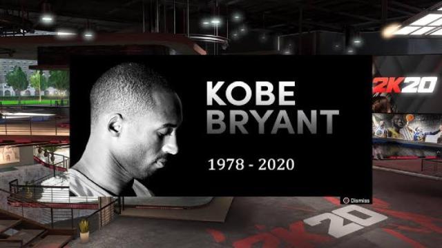 2K Games commemorating Kobe Bryant in NBA 2K20