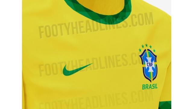 Vaza suposta nova camisa da Seleção Brasileira