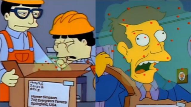 Des internautes disent que Les Simpson avaient prédit l'épidémie du Coronavirus