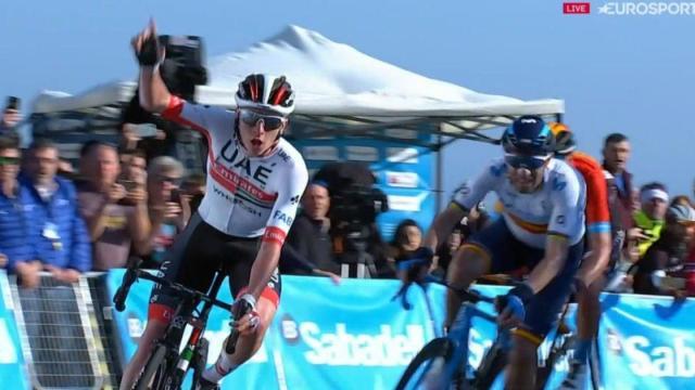 Volta Valenciana, seconda tappa: Tadej Pogacar beffa Valverde nell'arrivo in salita