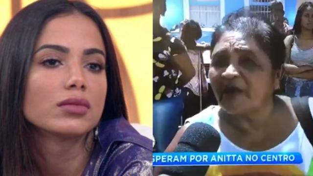 Idosa acusa a cantora Anitta de empurrar uma criança