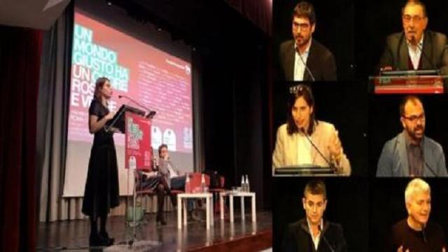 Roma, l'assemblea di Sinistra italiana: 'Un mondo giusto ha il cuore rosso e verde'
