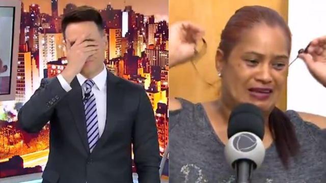 Luiz Bacci é criticado por mostrar ao vivo mãe desmaiada ao saber da morte da filha