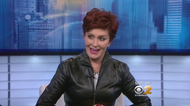 Sharon Osbourne embraces her natural hair color, goes all white