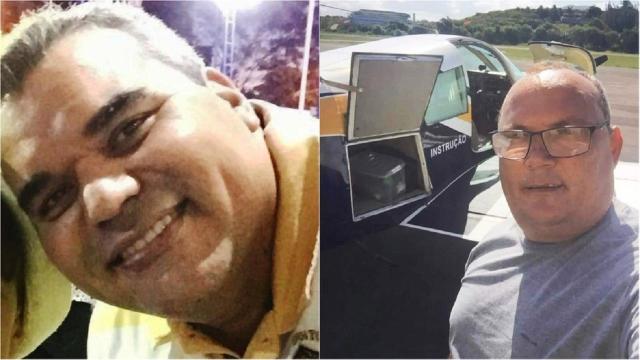 Avião monomotor cai em cima de depósito em Guarapari-ES e deixa dois mortos