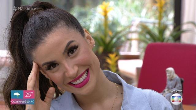 Bianca Andra (Boca Rosa) fala sobre seu relacionamento com o cantor Melim no Mais Você