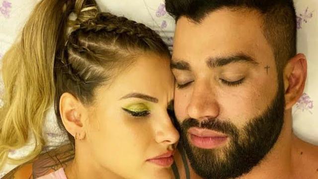 Andressa Suita posta foto no Instagram deitada ao lado do marido Gustavo Lima