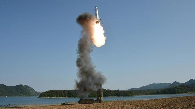 North Korea fires unidentified projectiles into the sea