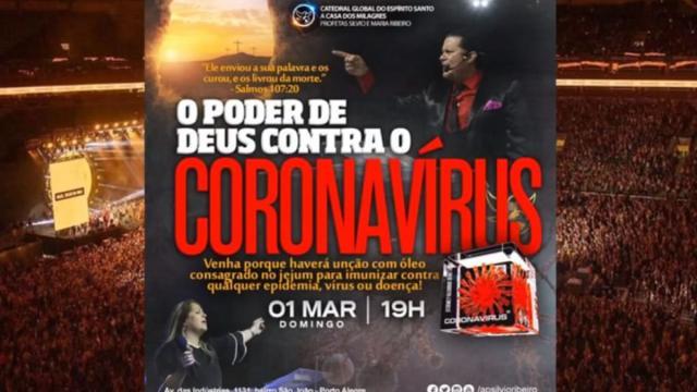 Igreja que prometia imunizar fieis do coronavírus é investigada pela polícia