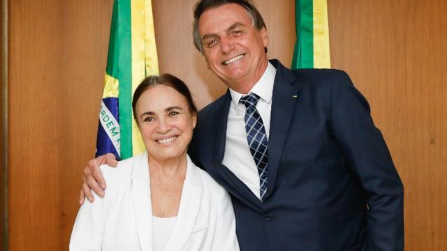 A nova Secretária da Cultura, Regina Duarte, toma posse do cargo nessa quarta-feira