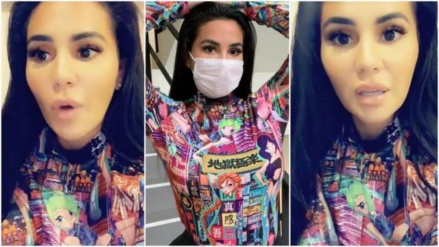 Milla Jasmine pose avec un masque contre le Coronavirus, les internautes se déchaînent