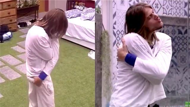 BBB20: Mesmo com Marcela no quarto, Daniel ' da uns amassos' nele mesmo