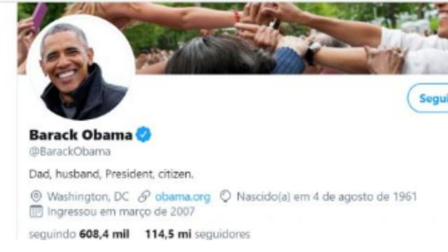 Os cinco perfis de famosos com maior número de seguidores do Twitter