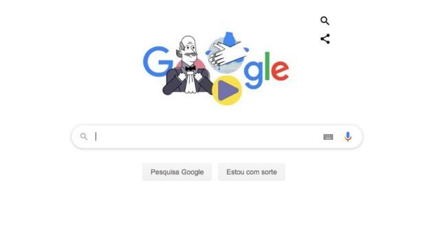 Google usa Ignaz Semmelweis para alertar necessidade de lavar as mãos durante a pandemia