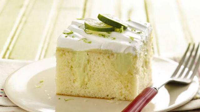 How to bake the key lime chiffon cake