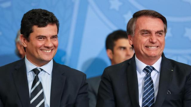 Presidente Jair Bolsonaro chama Sergio Moro e 'egoísta' por 'sumir' em meio a pandemia