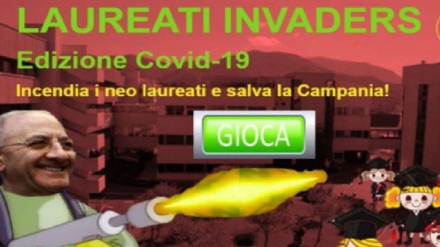 Vincenzo De Luca protagonista del nuovo videogame 'Laureati Invaders'