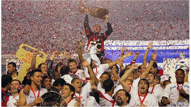Os cinco times com mais participações na Copa Libertadores
