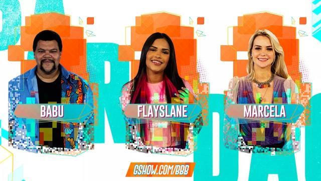 'BBB20': Marcela, Babu e Flay disputam o paredão desta terça
