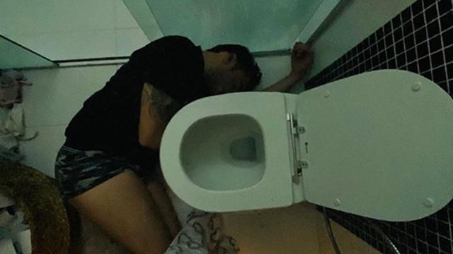 Maiara flagra Fernando caído bêbado no chão o banheiro: 'teste para o casamento'