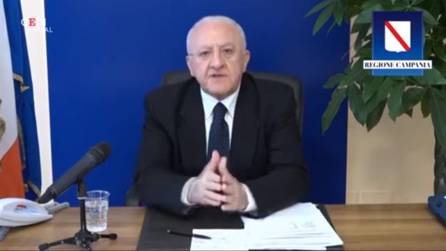 Coronavirus: De Luca annuncia l'entrata in vigore di un piano da 604 milioni di euro