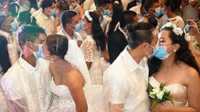 Un mariage s'est tenu alors que le confinement est de rigueur