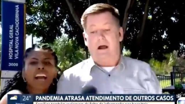 Mulher entra em link ao vivo da Rede Globo e a chama emissora de lixo