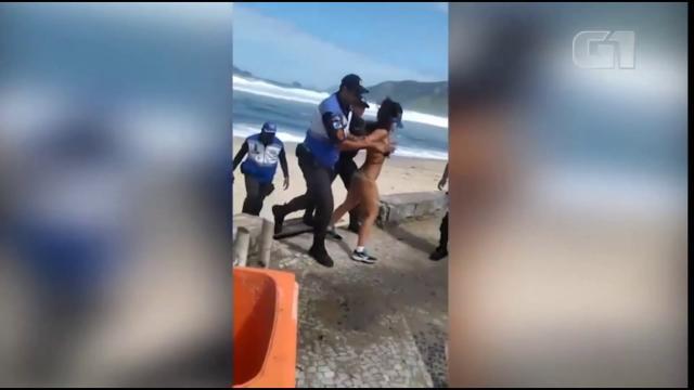 Mulher é presa no Rio de Janeiro após se recusar a deixar praia durante quarentena