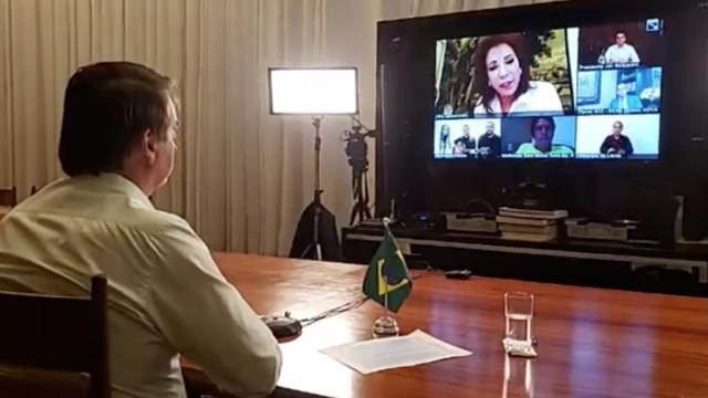 Em live, Iris Abravanel e Jair Bolsonaro ganham mais ibope que Silvio Santos