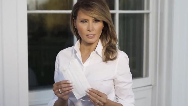 Melania Trump hace campaña por el uso de mascarillas