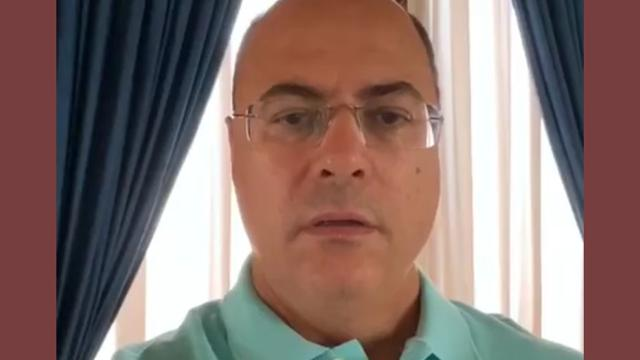 Wilson Witzel, governador do Rio anuncia que está infectado pelo covid-19